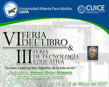 VI Feria del Libro y III Feria de Tecnología Educativa  UAPA